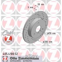 2 Zimmermann DISQUES DE FREIN SPORT devant 280mm SMART CABRIOLET FORTWO 0,6 0,7