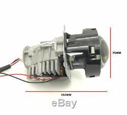 2 x 3 Complet Bi-Led Extension Projecteurs Lentille Halo Housse comme Kit