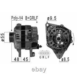 ALTERNATEUR SMART FORTWO Cabrio (451) 1.0 (451.431) 52KW 71CV 01/2007 EB984S V1