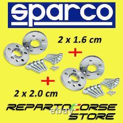 Élargisseurs de Voie Sparco 16mm+20mm smart Fortwo 450/451 Brabus