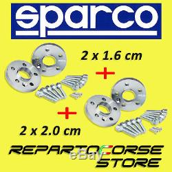 Entretoises Sparco 16mm+20mm Smart Fortwo 450/451 Fortwo 450/451 Brabus