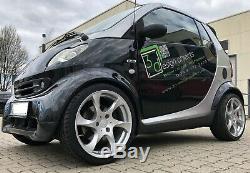 Lorinser Speedy Jeu de Roues Complet Smart Fortwo 450 Argent Lot Jantes 17 Pouce