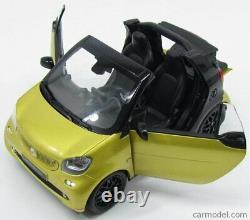 NOREV 1/18 Smart Fortwo Cabriolet 2015 Jaune Met Noir B66960289