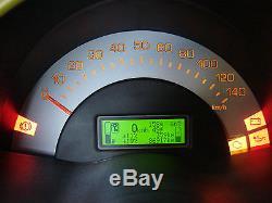 Ordinateur de bord vert avec noir fonte pour la Smart Fortwo 450 jusqu'à