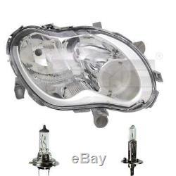 Phare à Droite H1/H7 Pour Smart Fortwo Coupé 450 City-Coupe Incl. Lampes