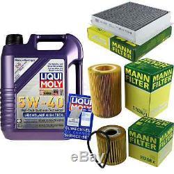 Révision Filtre Liqui Moly Huile 5L 5W-40 pour Smart Cabriolet 450 0.6