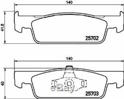 TEXTAR Frein Avant Disques + Coussinets Pour Smart Fortwo Cabriolet 0.9 Brabus