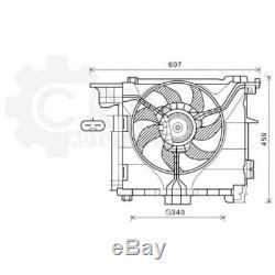 Ventilateur Refroidissement Moteur de Radiateur Smart Fortwo Cabrio