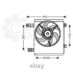 Ventilateur Refroidissement Moteur de Radiateur Smart Ville Fortwo Cabrio 450